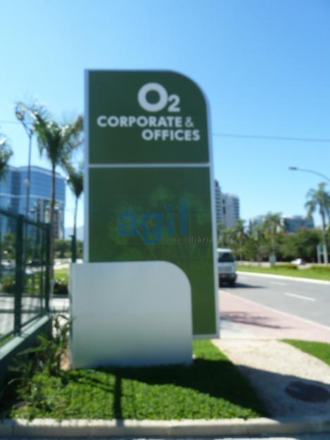 Excelente sala no Empreendimento O2 Corporate & Offices,com 21M2,1 banheiro, Sol da manhã.1 vaga de garagem.